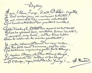 Rimbaud manuscrit